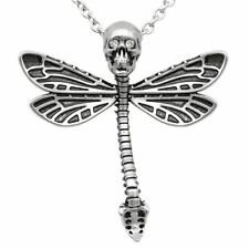 Deadly Dragonfly Skull Skeleton Pendant Necklace w. Swarovski crystals Controse