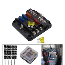 Car Modification Insurance Fuse Box 6 Way Insert Type Universal with Led Light