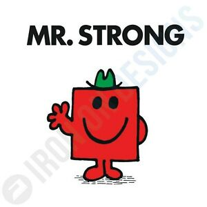 MR STRONG - IRON ON TSHIRT TRANSFERS - A6 A5 A4