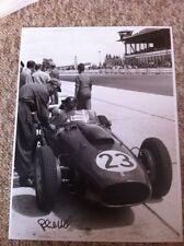 Phil Hill (1927-2008) Ferrari F1 German Grand Prix 1958 Signed **Large 16 x 12**