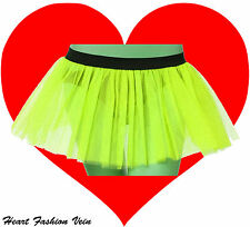 Neon UV Lime tutu skirt Punk Cyber Rave Dance Rock Fashion Fairy party Halloween
