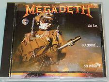 Megadeth - So far so good so what - '88 ORG 1st Press cd MINT