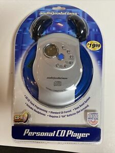 Audio Solutions Blue/Gray Personal CD Player with Headphones Model ATC-549 (D3)
