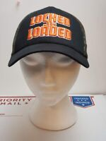 Locked -n- Loaded Black Camouflage Embroidered Cap Hat VGC