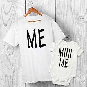 Me & Mini Me - Dad & Baby Son Daughter matching Father T-shirt & Baby Grow Set