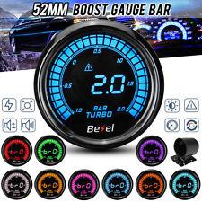 52mm Turbo Boost Pressure Digital Gauge Car Meter Dials -1~2 BAR Led 10 Colors