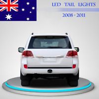 LED Taillights For Toyota Landcruiser 2009-2010 200 Series Red Clear Express