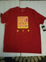 NWT Nike Air Men's Red t-shirt Size XL 100% Cotton The Nike Tee