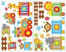 27-teiliges Tierzug Wandtattoo Set Giraffe Wandsticker Kinderzimmer Aufkleber