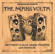 RARE Emek Mars Volta 2005 SIGNED Los Angeles WOOD Handbill 11/20