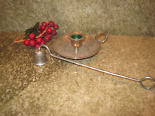 Vintage Silver Plated Chamber Candle Stick With Snuffer