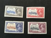 King George V Cyprus Stamps MH