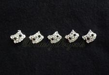 (5pcs) nail art cute 3D kitty cat face rhinestone charms acrylic nails gel A197