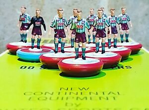 West Ham United Away 1990 Subbuteo team Handpainted And Decals