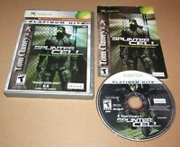 Tom Clancy's Splinter Cell for Microsoft Xbox Complete Fast Shipping