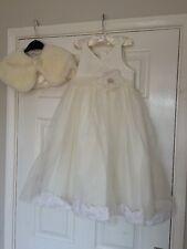Beautiful Girls Bridesmaid Dress With Flower Petals & Bolero  – Tigerlily Age 6