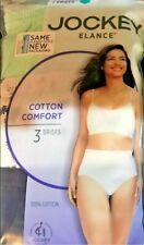 NEW Jockey Elance Cotton Comfort Panties Women's Underwear Briefs 3 Pr Size 7