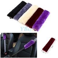 "2Pcs Plush Car Seat Belt Harness Cover Soft Shoulder Pad Strap Wrap 9.6""x 4.7"""