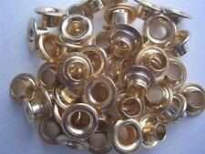 "3/16"" Large Eyelets BRASS GOLD pk of 50 round scrapbooking craft eyelet"