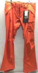 Burton Women's Indulgence Snowboard Snow Ski Pant XL Fever Orange NEW