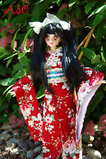 OOAK custom azone joint body 1/6 obitsu head tattoo kimono anime art doll YOKO