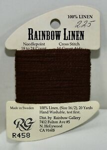 Rainbow Gallery Rainbow Linen 16/2 20 yards linen R458 brown