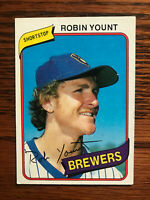 1980 Topps #265 Robin Yount Baseball Card HOF Raw Milwaukee Brewers