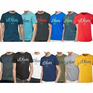 s.Oliver Herren T-Shirt Baumwolle Rundhals Ausschnitt kurzarm modern   bis 5XL