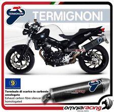 Termignoni OVAL Tubo de Escape en carbono aprobado para BMW F800R 2010>2012