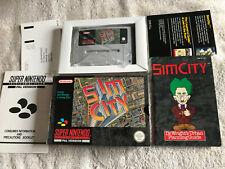 Sim City / VGC / CIB / Super Nintendo SNES PAL