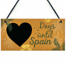 Chalkboard Holiday Countdown to Spain Novelty Plaque Sign Gift for Friend Family