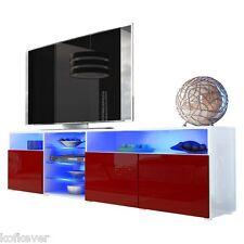 MOBILE PORTA TV Mozart 194 Porta Tv Hifi Decoder DVD ROSSO BORDEAUX LUCIDO Sala