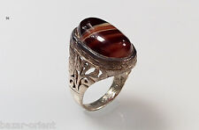 orientalisch massiv silber Karneol Ring Persien orient carnelian silver ring N56
