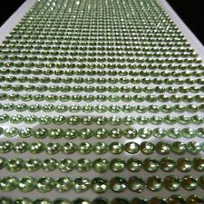 1000 JADE SELF ADHESIVE STICK ON DIAMONTE PALE GREEN CRYSTAL RHINESTONE DIAMANTE