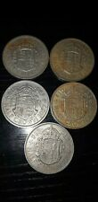 5X Half Crown coins from 1957-1967