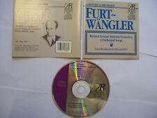 FURTWÄNGLER/STRAUSS Sinfonia Domestica/4 Orchestral Songs - 1989 USA CD – RARE!