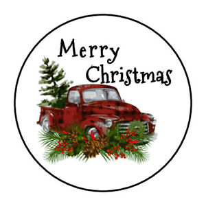Christmas Tag Stickers,200 Pcs Xmas Sealing Sticker Christmas Holiday Sticker Bronzing Sealers Red Black Green Christmas Package Seal Sticker Label for Scrapbooking Tag Christmas