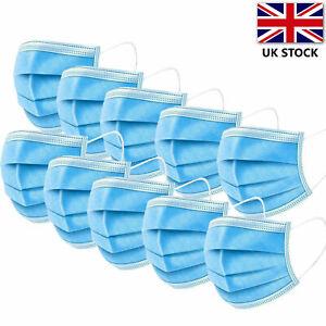 Masks Face Protective Covering Mouth Nose Masks UK x 50 Face Masks