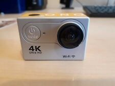 Silver 4K Action Camera with Accessories + WiFi