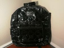 Loungefly Loves Hello Kitty Backpack Black Embossed Patent Glossy Bag Has Wear