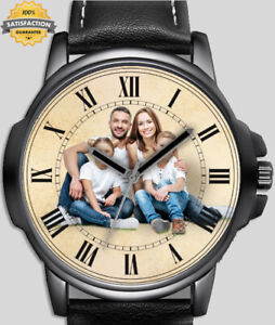 Personalised Custom Create Your Own Photo Wrist Watch Text Logo Picture FAST UK