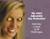 E-Z Eyes Australian Gold Disposable Tanning Bed Eyewear Goggles  FDA Approved
