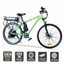 "26"" 48V 1000W Electric Ebike Mountain Bike Rear Hub Motor w'15A Lithium Battery"