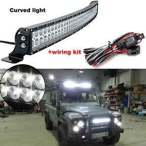 42'' 240W Curved LED Light Bar Offroad Combo Beam Driving Truck ATV+Wiring Kit