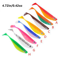 "6PCS Soft Fishing Lures Bass Wobblers Handmade Silicone Baits 4.72"" Saltwater"