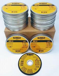 """(Box of 100) DEWALT DWA8051 DWA8051T10 4-1/2""""x.045""""x7/8"""" T1 Metal Cut-off Wheels"""