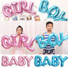 Boy/Girl Air-filled Foil Balloon Letters Gender Reveal Baby Shower Party Decor