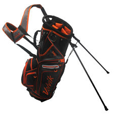 Volvik Golf Winners' 7-Way Top Stand Bag with Integrated Handle,  Black/Orange
