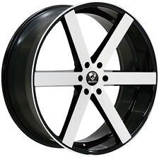 24 inch 24x9.5 Ravetti  Black Machine wheel rim 6x5.5 6x139.7 +30
