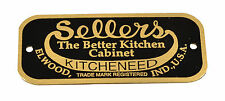 Sellers Cabinet Label Brass